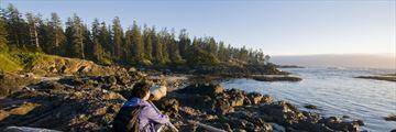 Enjoying the coastal scenery on Vancouver Island