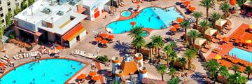 Aerial of Pools at Excalibur Hotel & Casino
