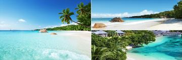 Exotic vistas around Praslin Island