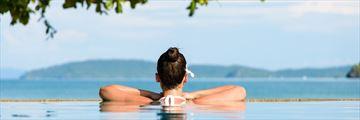 Relaxing in the spa pool in Krabi