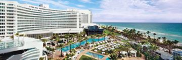 Aerial View of Fontainebleau Miami Beach