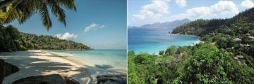 Four Seasons Resort Seychelles, Beach and Aerial View of Resort
