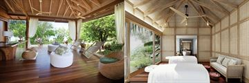Four Seasons Resort Seychelles at Desroches Island, Spa Reception and Spa Couples Treatment Room