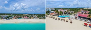 Aerial Views of Frangipani Beach Hotel