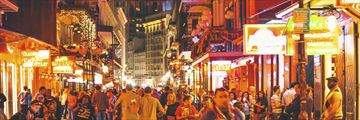 Bustling nightlife at New Orleans' French Quarter