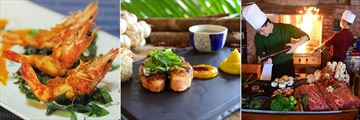 Furama Resort, Cafe Indochine Prawn Dish, Danaksara Salmon Dish and The Fan Chef