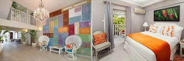 The Lobby and Garden View Room at Sugar Bay Barbados