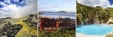 Rotorua Geysers, Maori Boats & Thermal Pools, North Island