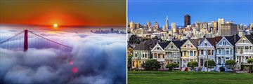 Golden Gate Bridge & Alamo Square, San Francisco