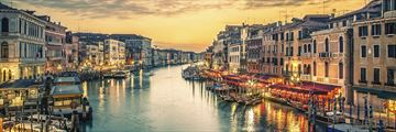 Grand Canal from Rialto Bridge in Venice, Italy