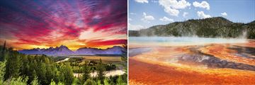 Grand Teton Snake River & The Prismatic Spring, Yellowstone