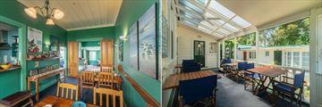 Great Ponsonby Bed & Breakfast, Breakfast Area and Terrace Overlooking Courtyard Studios
