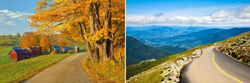 Vermont's Green Mountains & Mount Washington State Park in New Hampshire