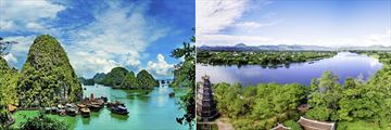 Ha Long Bay seascape and Hue landscapes