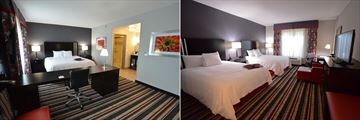 Hampton Inn & Suites Albany-Downtown, King Guest Suite and Two Queen Beds Suite