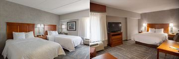 Hampton Inn & Suites Knoxville-Downtown, Bedrooms