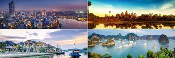 Hanoi, Halong Bay, Hoi An & Angkor Wat landscapes