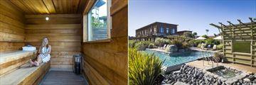 Hapuku Lodge & Tree Houses, Sauna, Pool and Exterior of Sauna