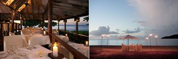 The Restaurant and Destination Dining at Hermitage Bay Hotel