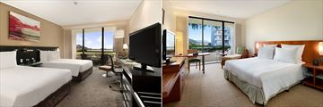 Double Guestroom and King Guest Room at Hilton Cairns Hotel
