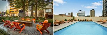Outdoor Patio and Pool at Hilton Knoxville