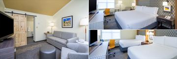 Loft Suite Upper Level, King Guest Room and Double Double Guest Room at Holiday Inn Cape Cod Hyannis