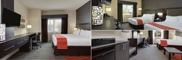 King Guest Room, Double Queen Guestroom with Pool View and King Bedroom Studio at Holiday Inn Express & Suites Naples Downtown – 5th Avenue