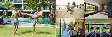 Holiday Inn Resort, Krabi, Kick Boxing, Football on the Beach, Spa Treatment Room, Fitness Centre Treadmills and Cross Trainers