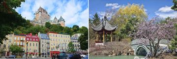 Views of Quebec and the Botancial Gardens in Montreal