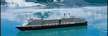 Holland America cruise ship in Glacier Bay Alaska