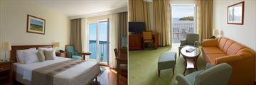 Double Room Sea View Extra and Comfort Suite Sea View with Terrace at Hotel Bozica