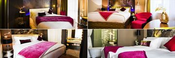 Hotel de L'Opera M Gallery, (clockwise from top left): L'Opera Deluxe Room, L'Opera Grand Deluxe Room, L'Opera Suite Twin and L'Opera Suite