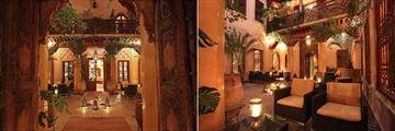 The patio at Hotel La Maison Arabe
