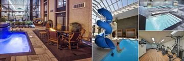 Hotel Universel Riviere-du-Loup, Universpa Nordik, Indoor Pool Waterslide, Universpa Nordik and Gym