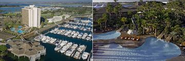 Hyatt Regency Mission Bay, Aerial Resort & Marina View and Pools & Waterslides