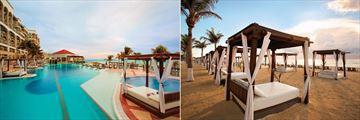 Hyatt Zilara Cancun, Pool, Pelicanos Restaurant and Beach and Cabanas