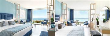 Junior Suite with Private Garden and Panorama Junior Suite at Ikos Oceania