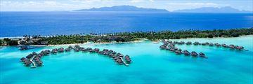 Intercontinental Bora Bora Resort Thalasso Spa, Aerial View of Resort and Overwater Villas