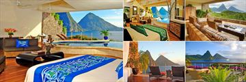 Accommodation at Jade Mountain