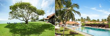 Jetwing Lagoon, Negombo, Gardens, Hotel and Poolside