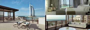 Jumeirah Al Naseem, Madinat Jumeirah, Ocean Suite Balcony, Ocean Suite View and Family Suite Balcony