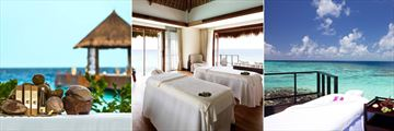 Jumeirah Vittaveli, Talise Spa Products, Talise Spa Overwater Suite and Talise Spa Outdoor Treatments