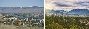 Skylines of Kamloops & Vancouver