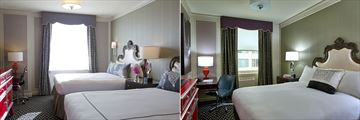 Twin and Queen rooms in Kimpton Sir Francis Drake