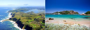 Knysna aerial view & beach