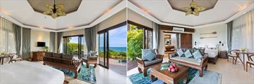 Beachfront Plunge Pool Suite and Ocean View Plunge Pool Suite at Outrigger Koh Samui