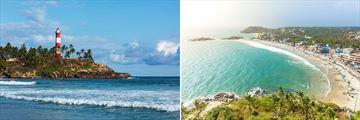 Kovalam Beach & Lighthouse, Trivandrum, South India