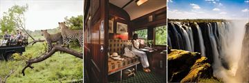 Kruger Game Drive, Rovos Rail carriage & Victoria Falls
