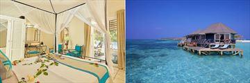 Bonthi Beach Bungalow and Sangu Water Villas at Kuredu Island Resort & Spa