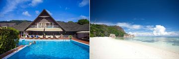 La Digue Island Lodge, Main Pool and Beach